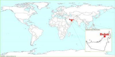 dubai elhelyezkedése térkép Világ térkép Dubai   Dubai elhelyezkedés a világ térképe (Egyesült
